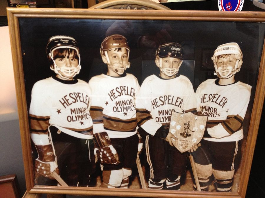 These photographs were given to us from the son of the gentleman who took the photographs, after we had finished an estate clean-up. They were taken of Wayne and some of his teammates, at age 9. The son had played hockey with Wayne Gretzky then.